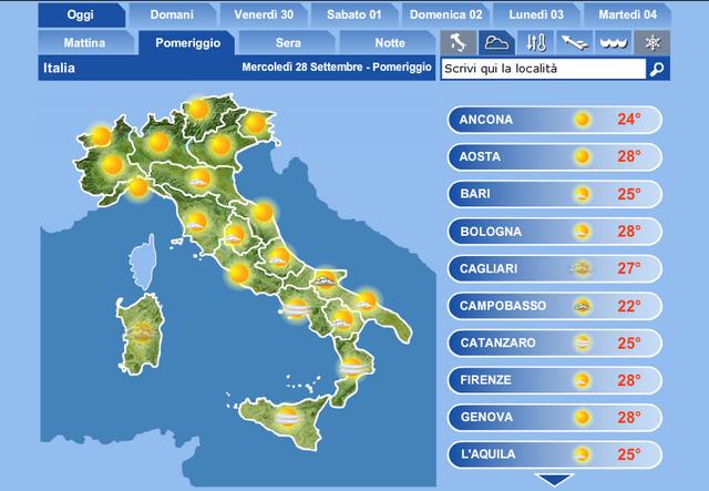 Meteo Cartina Italia.Il Meteo Bologna Previsioni Meteo E Webcam Bologna